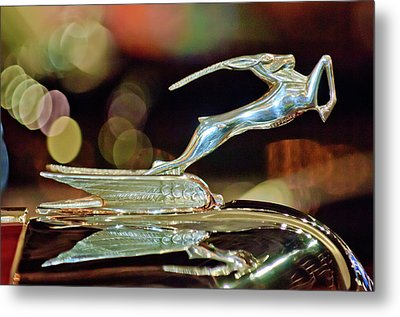 1932 Chrysler Imperial Hood Ornament 1 Metal Print by Jill Reger