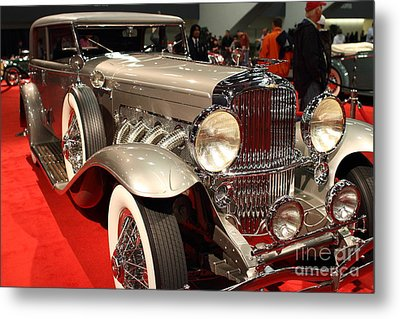 1932 Duesenberg Sj Turing Front Angle Metal Print by Wingsdomain Art and Photography