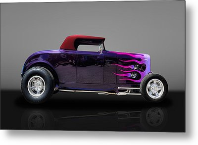 1932 Ford Convertible Metal Print by Frank J Benz