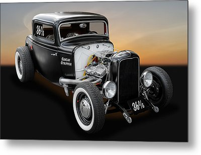1932 Ford Deuce Coupe C/gas Roadster Metal Print by Frank J Benz