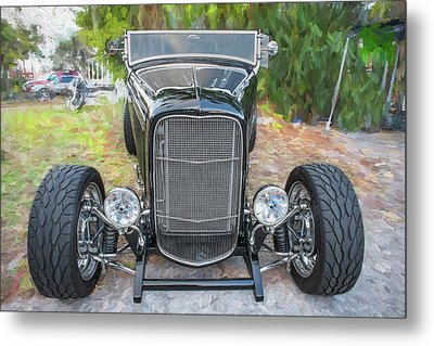 1932 Ford Roadster Convertible 001 Metal Print by Rich Franco