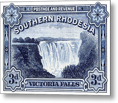 Metal Print featuring the painting 1932 Southern Rhodesia Victoria Falls Stamp by Historic Image