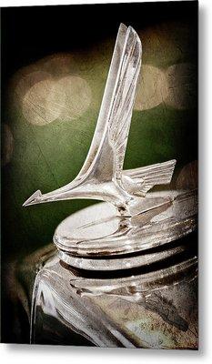 1932 Studebaker Dictator Hood Ornament -0850ac Metal Print by Jill Reger
