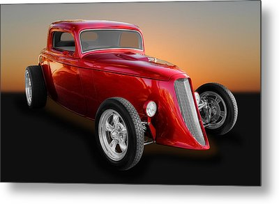 1933 Ford 3 Window Coupe Street Rod Metal Print by Frank J Benz