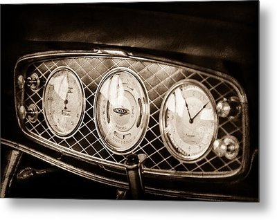 1933 Lincoln Kb Judkins Coupe Dashboard Instrument Panel -0159s Metal Print