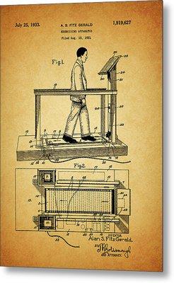 1933 Treadmill Metal Print by Dan Sproul