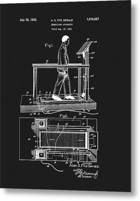 1933 Treadmill Patent Metal Print by Dan Sproul
