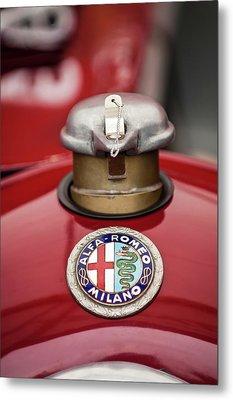1934 Alfa Romeo Tipo B Hood Emblem Metal Print by Jill Reger