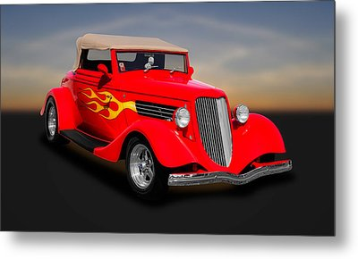 1934 Ford Convertible Coupe  -  1934fdcv30 Metal Print by Frank J Benz