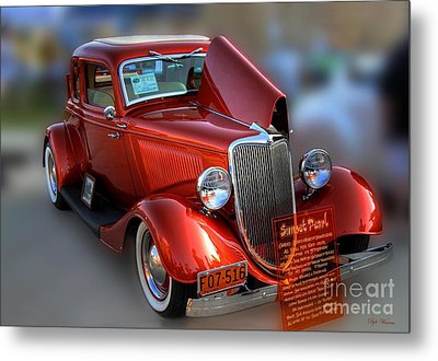 Metal Print featuring the photograph 1934 Ford Coupe by Dyle   Warren