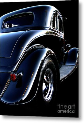 1934 Ford Coupe Rear Metal Print by Peter Piatt