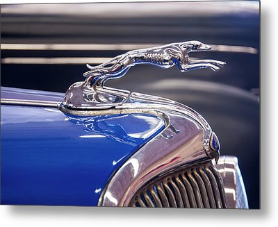 Metal Print featuring the digital art 1934  Ford Greyhound Hood Ornament by Chris Flees