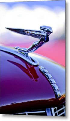 1935 Auburn Hood Ornament 4 Metal Print by Jill Reger