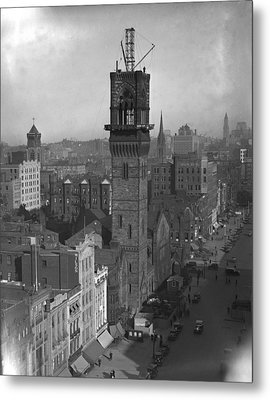 Metal Print featuring the photograph 1935 Back Bay Construction, Boston by Historic Image