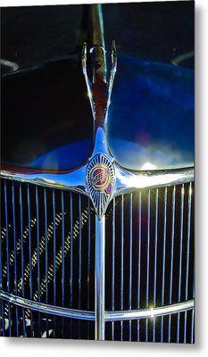 1935 Chrysler Hood Ornament 2 Metal Print by Jill Reger