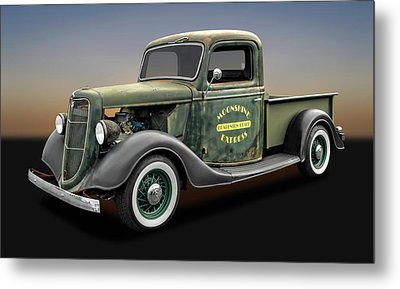 1935 Ford Pickup Truck  -  1935fordtruck9735 Metal Print by Frank J Benz