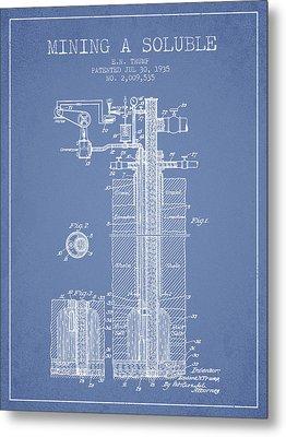 1935 Mining A Soluble Patent En39_lb Metal Print by Aged Pixel