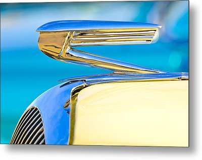 1936 Buick 40 Series Hood Ornament Metal Print by Jill Reger