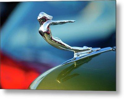 1936 Cadillac Hood Ornament 2 Metal Print by Jill Reger