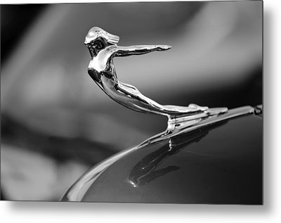 1936 Cadillac Hood Ornament 3 Metal Print by Jill Reger