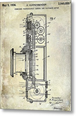 1936 Camera Patent Metal Print by Jon Neidert