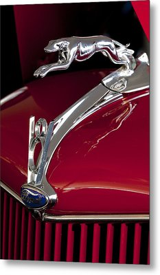1936 Ford 68 Pickup Hood Ornament Metal Print by Jill Reger