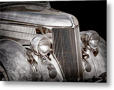1936 Ford - Stainless Steel Body -0371ac Metal Print by Jill Reger