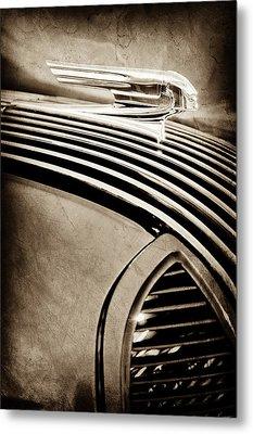 1936 Pontiac Hood Ornament -1140s Metal Print by Jill Reger