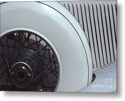 1937 Auburn Salon Cabriolet Side View Metal Print by Anna Lisa Yoder