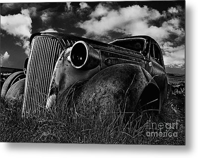 1937 Chevy Coupe Metal Print by Peter Dang