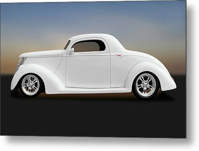 Metal Print featuring the photograph 1937 Ford Coupe  -  1937fordcoupe172185 by Frank J Benz