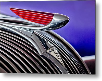 1937 Hudson Terraplane Sedan Hood Ornament 2 Metal Print