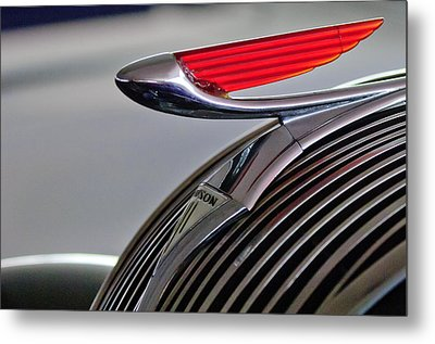 1937 Hudson Terraplane Sedan Hood Ornament Metal Print by Jill Reger