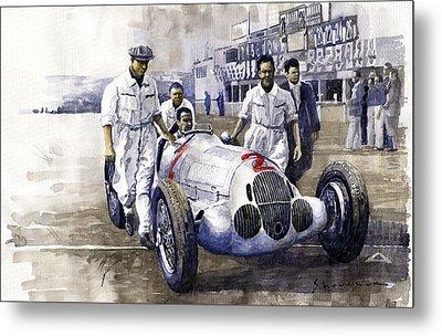 1937 Italian Gp Mercedes Benz W125 Rudolf Caracciola Metal Print by Yuriy Shevchuk