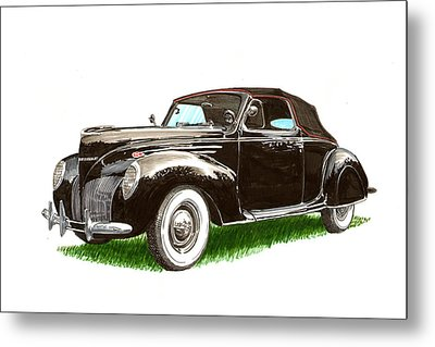 1937 Lincoln Zephyer Metal Print by Jack Pumphrey