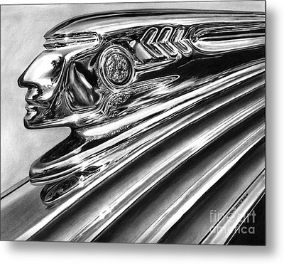 1937 Pontiac Chieftain Abstract Metal Print by Peter Piatt