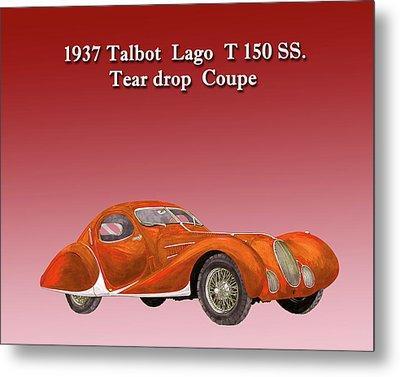 1937 Talbot Lago Teardrop Coupe Metal Print