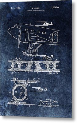 1938 Airplane Door Patent Metal Print
