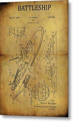 1938 Battleship Patent Metal Print