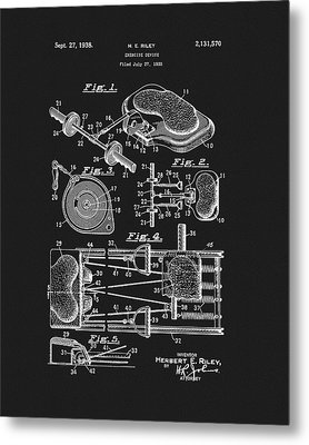 1938 Exercise Device Patent Metal Print by Dan Sproul