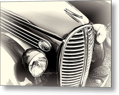 1938 Ford Pickup Truck Black And White Metal Print
