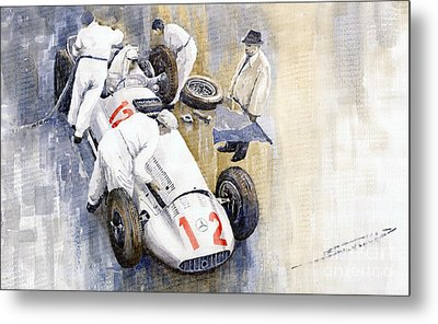 1939 German Gp Mb W154 Rudolf Caracciola Winner Metal Print