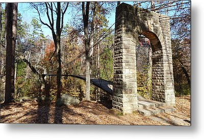 1939 Swinging Bridge Metal Print by Joel Deutsch