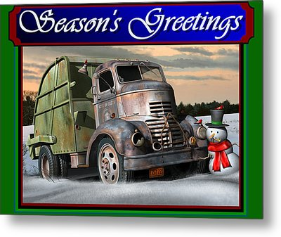 1940 Gmc Christmas Card Metal Print by Stuart Swartz