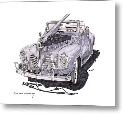 1940 Plymouth P 1 Convertible Metal Print