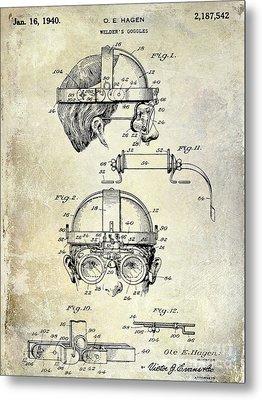 1940 Welders Goggles Metal Print by Jon Neidert