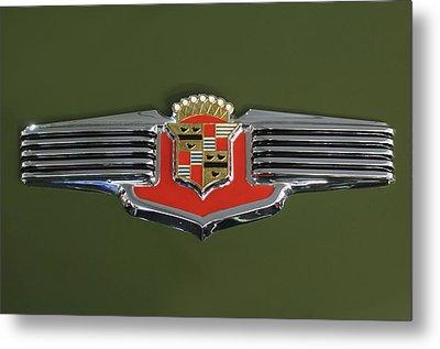 1941 Cadillac 62 Emblem Metal Print by Jill Reger