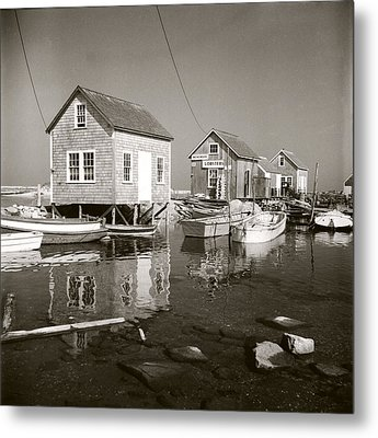 Metal Print featuring the photograph 1941 Lobster Shacks, Martha's Vineyard by Historic Image