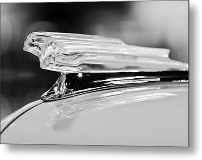 1942 Chevrolet Fleetline Hood Ornament 2 Metal Print by Jill Reger