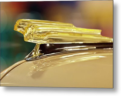 1942 Chevrolet Fleetline Hood Ornament Metal Print by Jill Reger